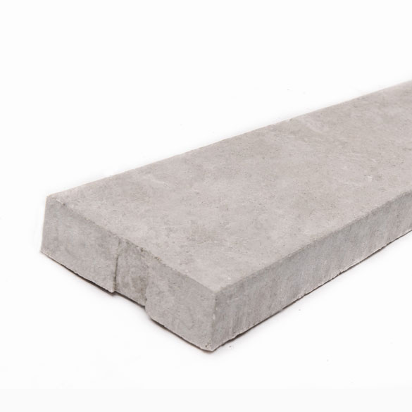 Concrete Gravel Board for Slotted Posts