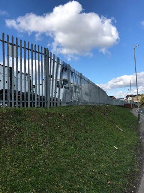 Galvanised Pallisade Fence