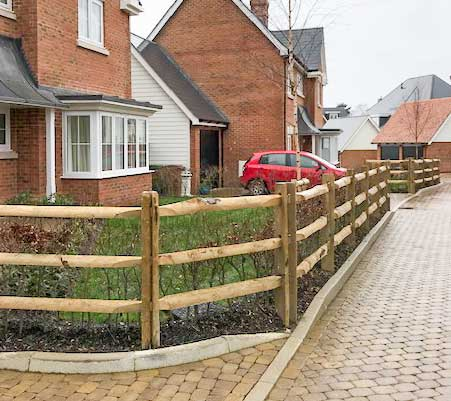 Post and Rail Fences installed by Maiford