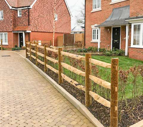 Heavy Duty Post and Rail Fences supplied and installed by Maiford